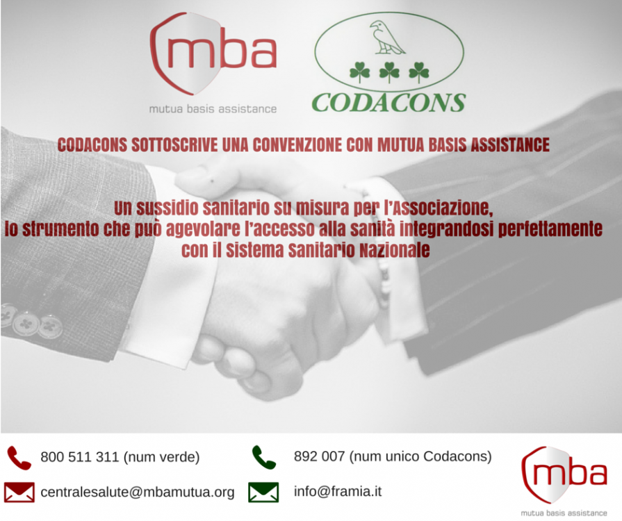 Convenzione Codacons Mutua MBA